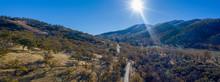 Panorama Of Tehachapi Mountains