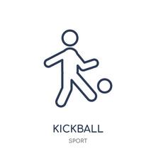 Kickball Icon. Kickball Linear...