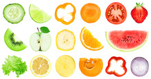Collection Of Fruit And Vegetable Slices