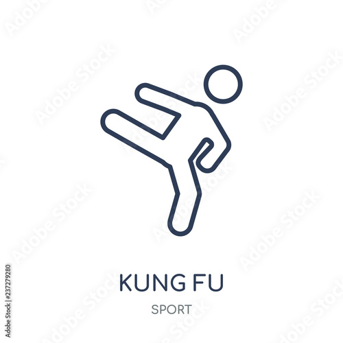 Fotografie, Obraz  kung fu icon. kung fu linear symbol design from sport collection.