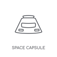 Space Capsule Linear Icon. Mod...