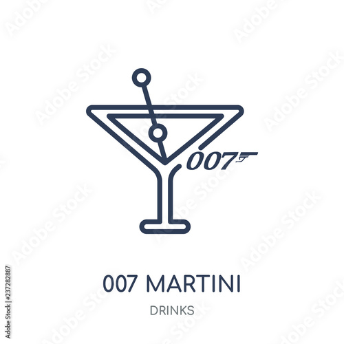 007 Martini icon Wallpaper Mural