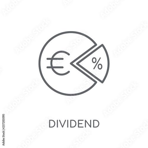 Fotografía  Dividend linear icon