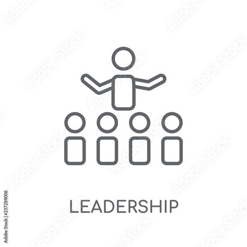 Photo  Leadership linear icon