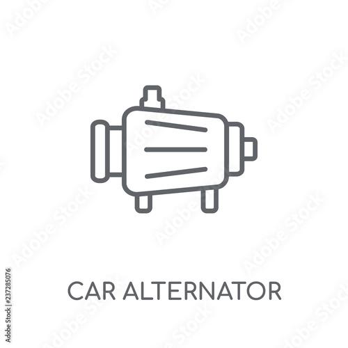 car alternator linear icon Canvas Print