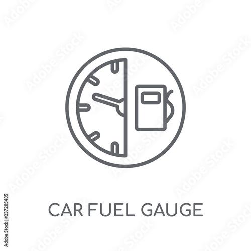 car fuel gauge linear icon  Modern outline car fuel gauge