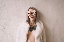 Young Woman With Halloween Sunglasses