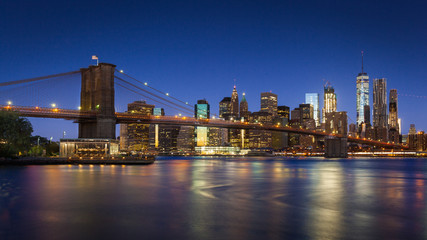 Brooklyn Bridge and Lower Manhattan, New York City, USA