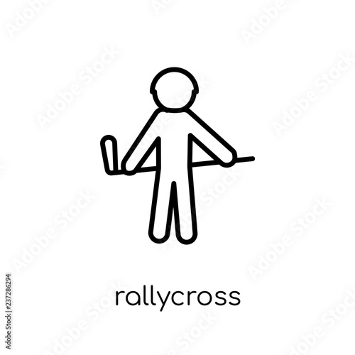 Fotografie, Obraz  rallycross icon