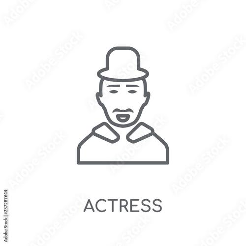 Fotografie, Tablou  actress linear icon