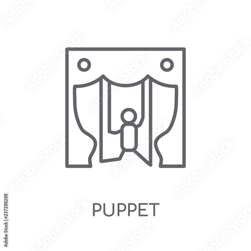 Photo  Puppet linear icon