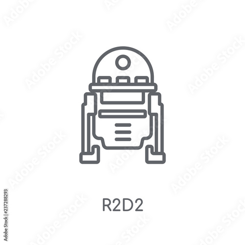 Photo  R2D2 linear icon