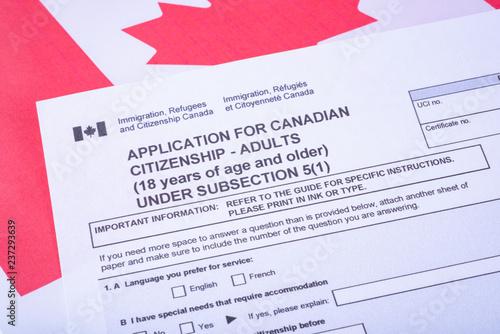 Fotografie, Obraz  Application for Canadian Citizenship - Adults