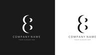 8 Logo Numbers Modern Black An...