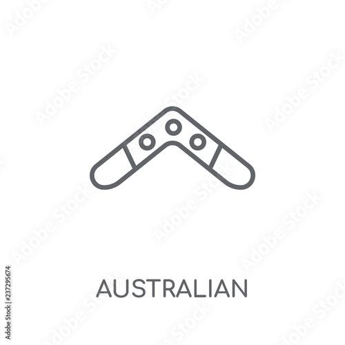 Photo Australian Boomerang linear icon