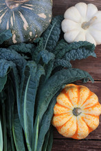 Fresh Picked Kale And Squash F...