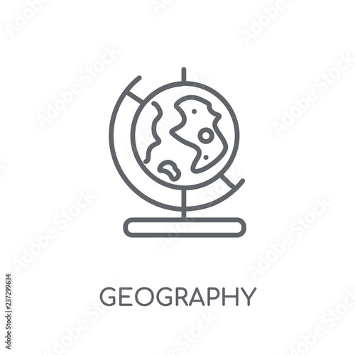 Foto  Geography linear icon