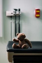 Exam: Teddy Bear Sits Alone On Exam Table