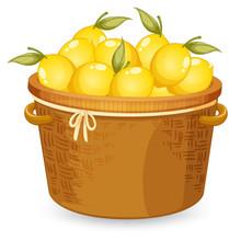 A Basket Of Lemon