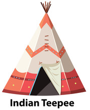 Traditional Indian Teepee On W...