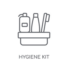 Hygiene Kit Linear Icon. Modern Outline Hygiene Kit Logo Concept On White Background From Hygiene Collection