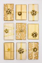 Golden Themed Handmade Christmas Presents