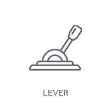 Lever Linear Icon. Modern Outline Lever Logo Concept On White Background From Industry Collection