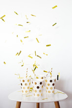 New Year Cups And Confetti