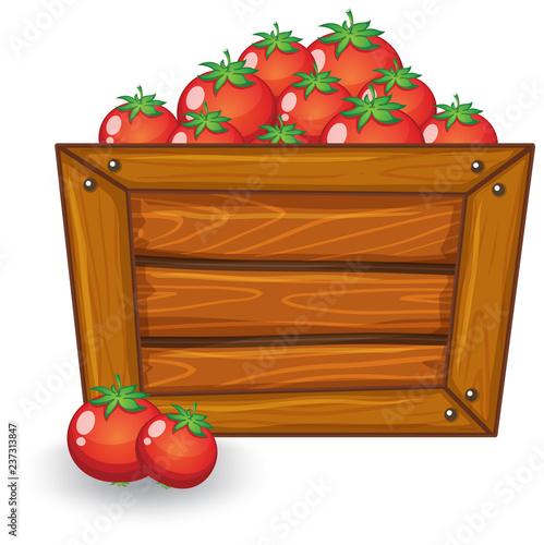 Staande foto Kids Tomato on wooden board