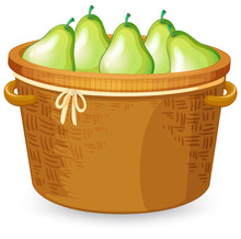 A Basket Of Pear
