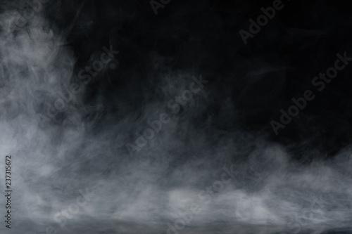 Türaufkleber Rauch Abstract Smoke on black Background