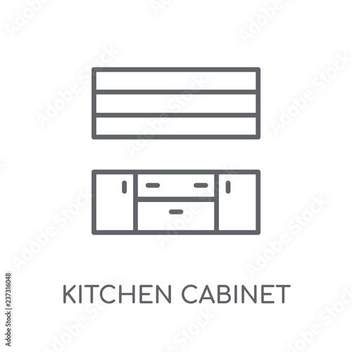 Kitchen Cabinet Linear Icon Modern Outline Kitchen Cabinet Logo