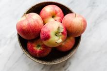 Freshly Picked Gala Apples In A Bowl