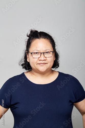 Fotografia  Fat Asian women on white
