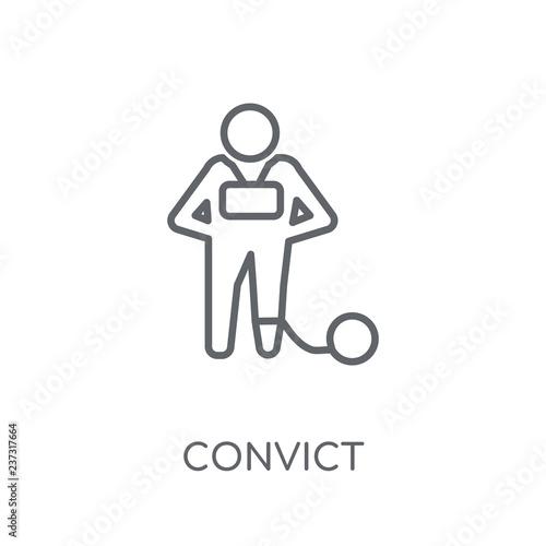 Fotografia  Convict linear icon