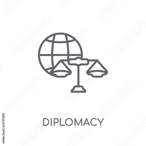 Fotografía  diplomacy linear icon