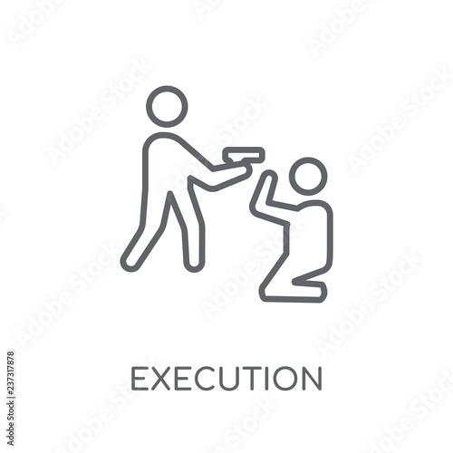 Fotografía  Execution linear icon
