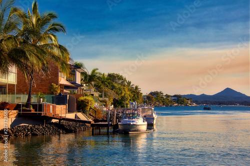 Fototapeta Sunset at Noosa, Queensland, Australia obraz