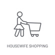 Housewife shopping icon. Trendy Housewife shopping logo concept on white background from People collection