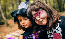 Two Little Girls Disguised In ...