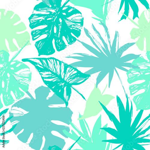 Photo sur Toile Empreintes Graphiques Vector tropic illustration in natural green colors