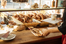 Croissants In French Cafe