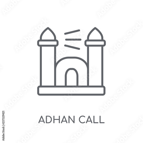 Adhan Call linear icon Tablou Canvas