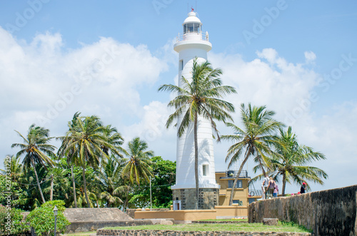 Garden Poster Lighthouse The beacon of a fort of Galle in Sri Lanka a country place of interest