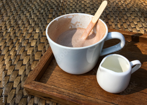 Poster Chocolate Hot Cocoa on wooden