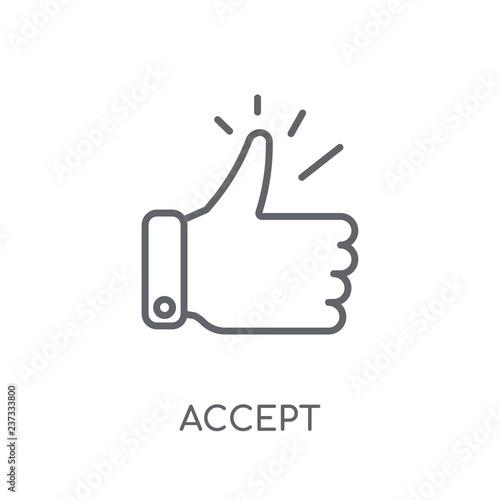 Fotografía  Accept linear icon