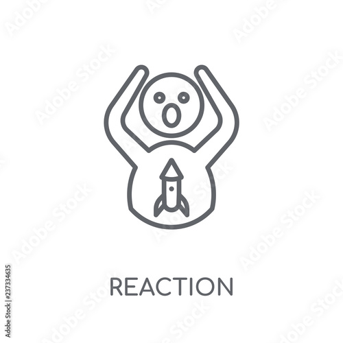 фотографія  Reaction linear icon