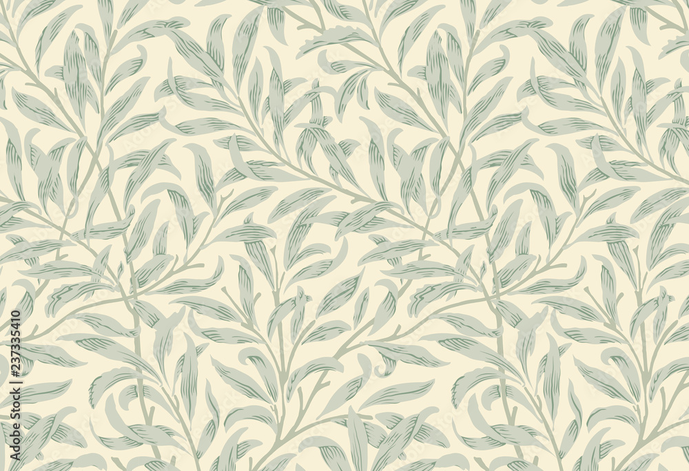 Fototapety, obrazy: Willow Bough by William Morris (1834-1896). Original from the MET Museum. Digitally enhanced by rawpixel.