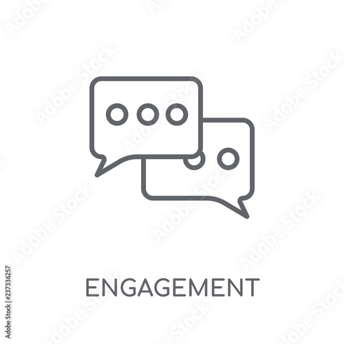 Obraz na plátně Engagement linear icon