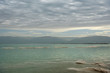 Dead Sea in the morning on a cloudy day